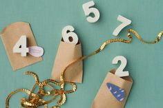 These quick and easy DIY table numbers add a bit of industrial chic to your homemade wedding decor.
