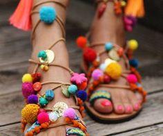 Tie up gladiator sandals