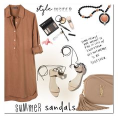 """Summer sandals"" by jan31 ❤ liked on Polyvore featuring United by Blue, Yves Saint Laurent, 3.1 Phillip Lim, Elizabeth Arden, Borghese and Kenneth Jay Lane"