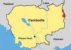 Pray / Jarai of Cambodia map