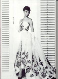 Audrey Hepburn from film Sabrina To See more Black VIntage Dresses, Black Vintage Dress visit our Pinterest Board http://www.pinterest.com/stillblondeaaty/black-vintage-dresses/