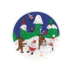 I Piatti per panettone sono disegnati da Massimo Giacon. �Happy Snowtime� � una festa all�aria aperta a cui partecipano Natalino, Alce e l�orso Orson. �Christmas Spiral� � un vortice che coinvolge Natalino e la sua slitta!