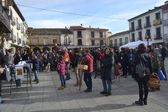 Inicio de la Tuitquedada Micológica en la Plaza de España de El Barco de Ávila