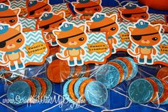 Scrappin with my bug: Octonaut Party ! Scrappin with my bug: Octonaut Party ! 5th Birthday Party Ideas, Fourth Birthday, Birthday Games, Octonauts Party, Party Time, Chocolate Coins, Candy Table, Party Entertainment, Pirate Party