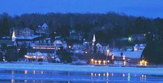 We spent our January honeymoon up on that hill overlooking the bay in Ephraim/Door County.  Winter wonderland.
