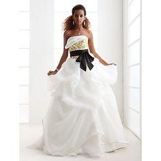 LAN+TING+BRIDE+Ball+Gown+Wedding+Dress+-+Classic+&+Timeless+Elegant+&+Luxurious+Glamorous+&+Dramatic+Wedding+Dress+in+ColorSweep+/+Brush+–+USD+$+149.99