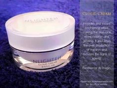 ❤️Nlighten Cloud Cream P1,450 Provides an instant brightening effect giving the skin look more healthy and glowing. The extracts of white rice and white milk protein help maintain an even skin tone by protecting it from dark spots. This cloud cream helps limit the over-production of melanin, helps reduce the signs of aging and helps protect from UVA & UVB rays.