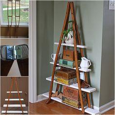 DIY Crutch Shelf