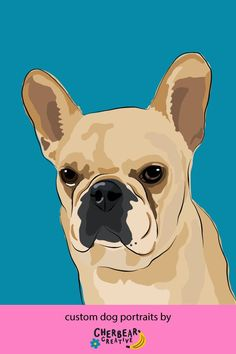 Custom Dog Portraits by Cherbear Creative Studio Custom Dog Portraits, Pet Portraits, Food Dog, Bandana Bow, Etsy Business, Marketing, Creative Studio, Your Best Friend, Dog Lovers