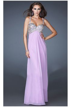 Prom Dresses 2013 Sheath/Column Spaghetti Straps Chiffon Beaded