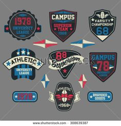 Find Patch Graphics Varsity Sports Emblem stock images in HD and millions of other royalty-free stock photos, illustrations and vectors in the Shutterstock collection. Badges, Championship League, Logo Character, Retro Logos, Embroidery Patches, Art Graphique, Fun Workouts, Logo Design, Men's T Shirts