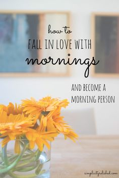 Want to become a morning person? Morning people are more productive, find more success at work, and are generally more satisfied. Here's how to fall in love with waking up early: the secret sauce to becoming a successful morning person! | How To Fall In Love With Mornings (and become a morning person)