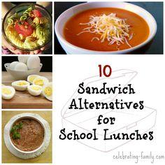 Sandwich Alternatives for School Lunches