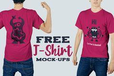 Free T-shirt Mock-up Templates