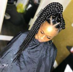 Braids With Bead Embellishments - 40 Best Big Box Braids Hairstyles Box Braids Hairstyles For Black Women, Sporty Hairstyles, African Braids Hairstyles, Braids For Black Hair, Girl Hairstyles, Braid Hairstyles, Short Box Braids, Blonde Box Braids, Jumbo Box Braids