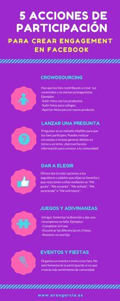 5 acciones de participación para crear engagement en Facebook #SocialMedia #Facebook