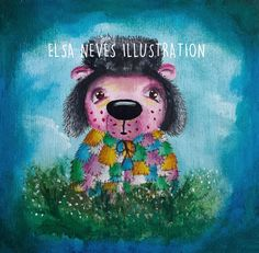 Flower Picking Bear by ElsaIllustration on Etsy