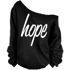 Hope Print Oversized Off Shoulder Raw Edge Sweatshirt ($29) ❤ liked on Polyvore featuring tops, hoodies, sweatshirts, shirts, dark olive, women's clothing, sweatshirts hoodies, army green shirt, pattern shirts and off the shoulder shirts