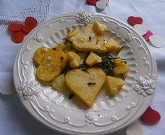 Corazones de patata con romero y sal de rosas