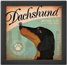 A dachshund vintage. #art #homedecor #Kohls