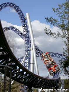 Tusenfryd is an amusement park at Vinterbro, Norway. The park is located 20 kilometers south of Oslo. Two of the longest motorway corridors in Norway, E6 and E18, meet nearby Tusenfryd and the park is located on the west side near where they meet.