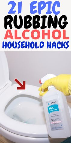Borderline Genius Rubbing Alcohol Uses you Must Try – Cleaning Hacks and Tips – Diy Diy Home Cleaning, Homemade Cleaning Products, Deep Cleaning Tips, Household Cleaning Tips, Toilet Cleaning, Cleaning Recipes, House Cleaning Tips, Natural Cleaning Products, Cleaning Solutions