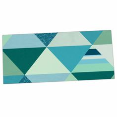 "Noonday Design ""The Triangle Blues"" Geometric Blue Desk Mat"
