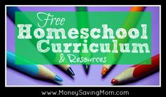 Here's a HUGE list of homeschool freebies, educational printables, free ebooks, and more!