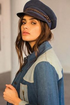 dae7373688f Kayla Cap in Blue by Brixton at The Freedom State Baker Boy