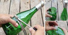 Reciclar as garrafas de vidro de forma criativa é uma maneira de economizar dinheiro e ao mesmo tempo de testar sua imaginação