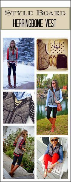 Style Board: Herringbone Vest Edition