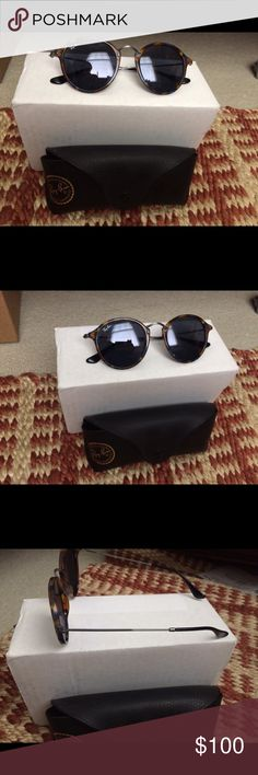 Rayban sunglasses Brand new round raybans with blue tinted lenses Ray-Ban Accessories Sunglasses