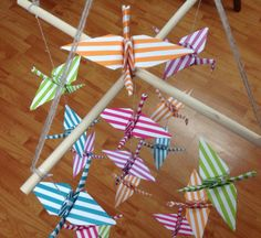 Cranes mobile Origami Mobile Baby Mobile by OrigamiPhiLong