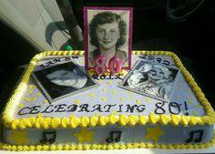 80th bday cake