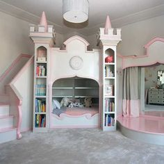 Princess Ballerina Castle Bed from PoshTots  #princessroom