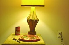 I like he he captured the yellow coloring of the light while also retaining the color of the can and plate. The Tab - William Eggleston William Eggleston, History Of Photography, Color Photography, Memphis, Robert Doisneau, Photo Colour, Mellow Yellow, Art Direction, Still Life