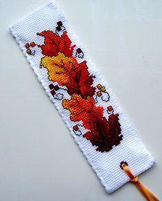 Autumn Leaves Cross Stitch Bookmark - Google Search