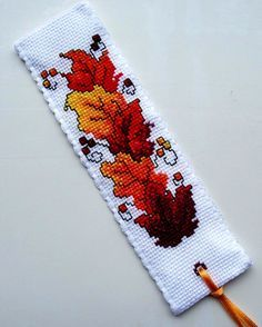 Autumn Leaves Cross Stitch Bookmark - Google Search