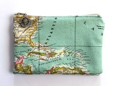 Vintage Map Toiletry Bag