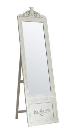 Shop Bevington Vintage Cheval Mirror Cream at Interiors Online. French Country Furniture, French Country Bedrooms, White Bedroom Decor, Cheval Mirror, Show White, Interiors Online, Wrought Iron, Home Accessories, Interior Decorating