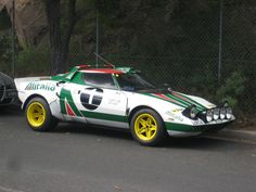Lancia Stratos Rally Car in the street - 5 Vintage Racing, Vintage Cars, Jaguar, Maserati, Ferrari, Mustang, Rally Car, Car Humor, Courses