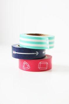Pencil Shavings Studio Washi Tape - Set of 3. Our brand new line of washi tape designed by us and made exclusively for us! www.psstudioshop.com