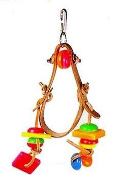 Item Back in Stock Notification  Leather Parrot Toy - Chowbell Wrangler Dangler - Prevue 60200
