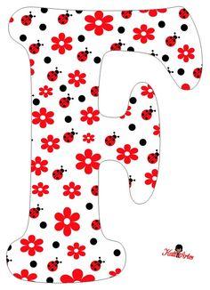 Resultado de imaxes para letras con flores