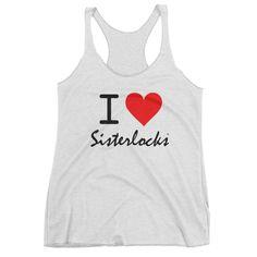 I Love Sisterlocks® - Heather White Tank Top