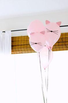 Kitty Cat Birthday Party + Free Printables! // www.deliacreates.com