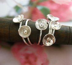 Enoki mushroom ring by wearthou on Etsy, $26.00