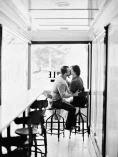 Coffee shop #engagement session Photography: Nancy Ray - www.nancyrayphotography.com  Read More: http://www.stylemepretty.com/2014/06/05/sweet-downtown-raleigh-engagement/