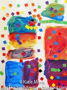 Adventures of an Art Teacher: Kindergarten Color Mixing - includes great Youtube link to Sesame Street color mixing clip.