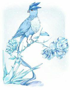 Most beautiful ice bird Pokemon ever. Gif Pokemon, Gijinka Pokemon, Pokemon Pins, Pokemon Fan Art, Charmander, Pokemon Stuff, Illustration, Pokemon Pictures, Blue Exorcist